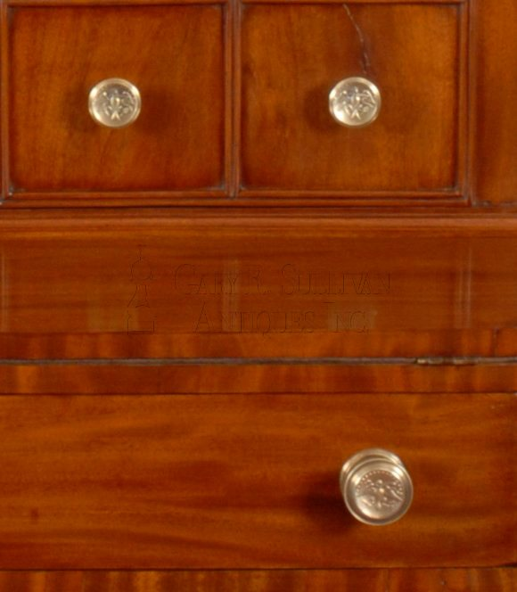 antique Sheraton desk and bookcase detail
