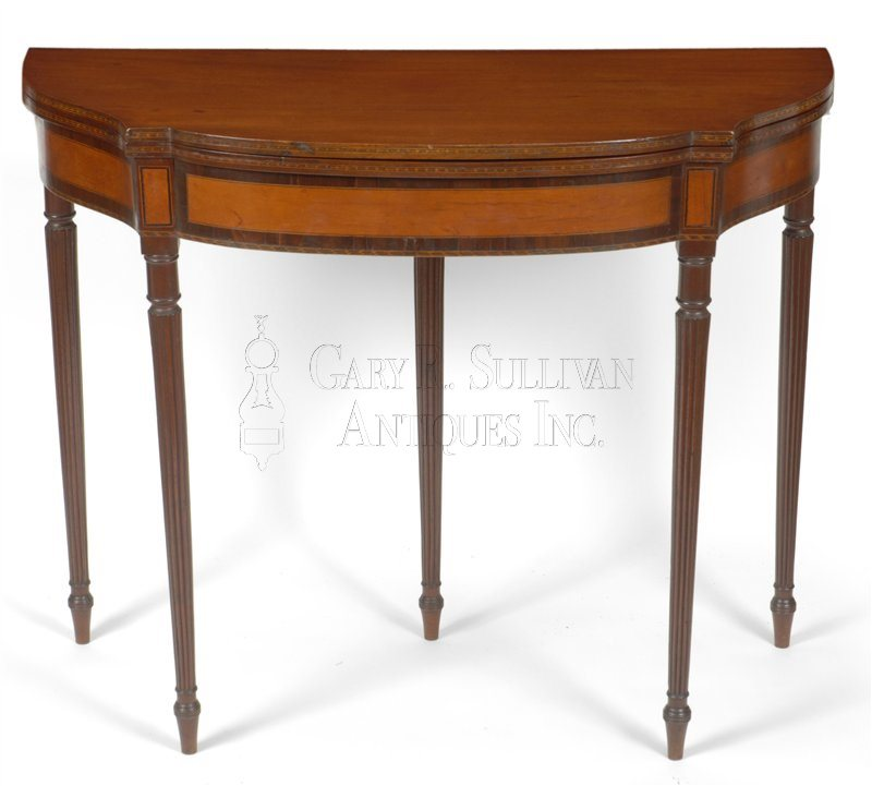 antique Federal five-leg games table