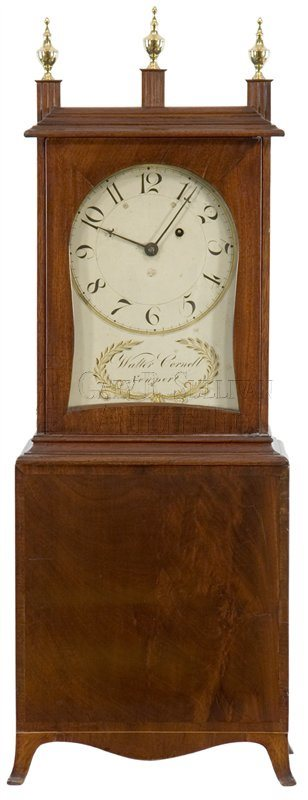 Walter Cornell antique Massachusetts shelf clock