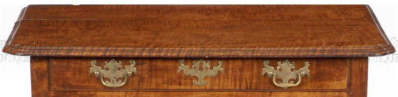 antique Queen Anne dressing table detail
