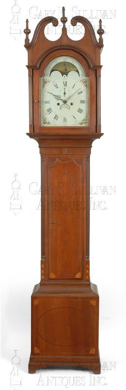 John Scudder antique grandfather clock