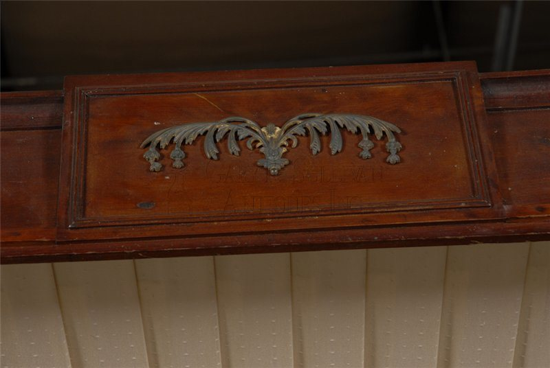 antique McIntire canopy bedstead detail