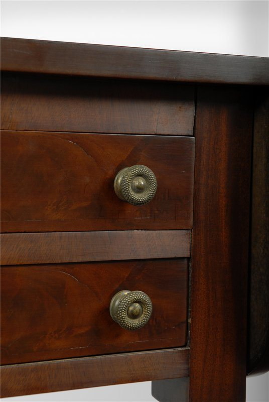 antique Sheraton work table detail