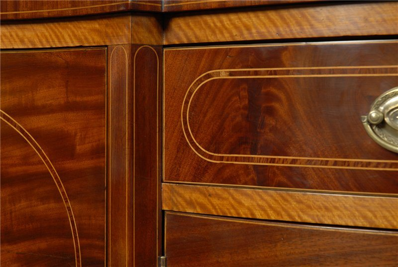 antique Federal inlaid sideboard detail