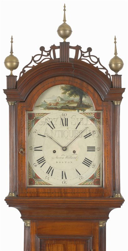 Aaron Willard antique grandfather clock hood