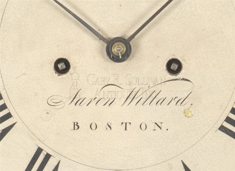 Aaron Willard antique grandfather clock signature