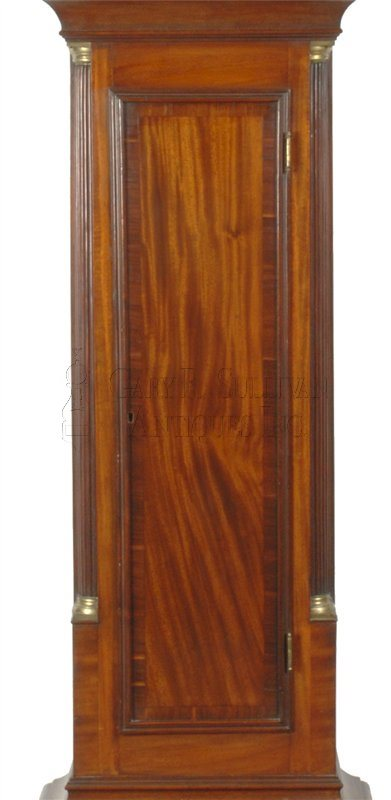 Aaron Willard antique grandfather clock door