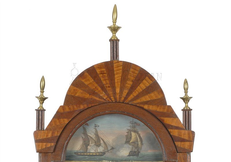 David Wood Mass shelf clock crest