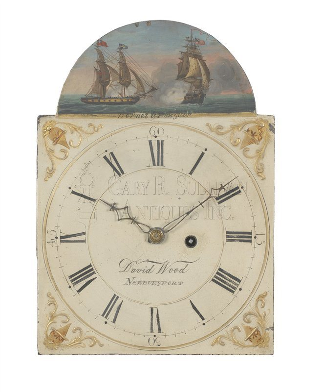David Wood Mass shelf clock dial