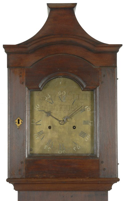 Nathaniel Dominy antique tall case clock hood