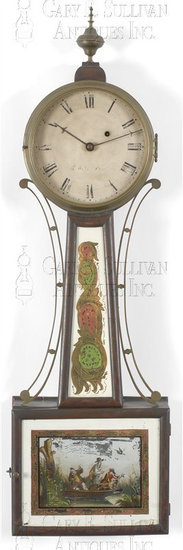 Joshua Wilder antique banjo clock/patent time piece