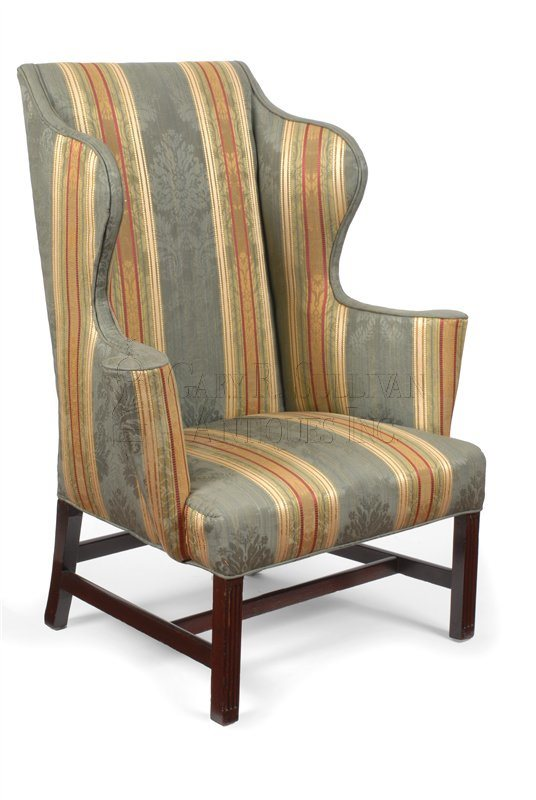 Chippendale antique wingback chair
