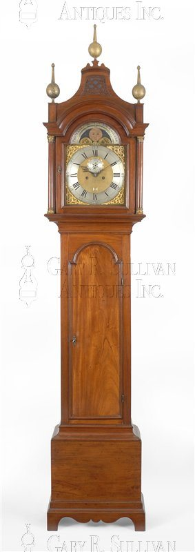 Thomas Clark antique Chippendale tall clock
