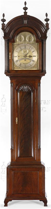 Thomas Claggett Newport antique tall clock