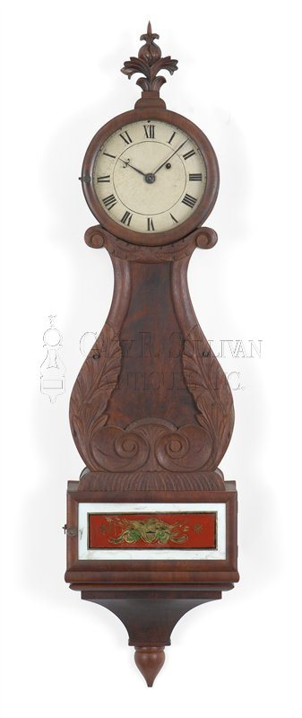 Boston antique box lyre clock