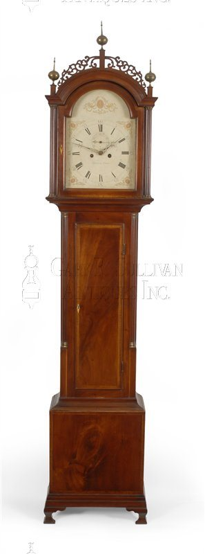 Zacheus Gates tall case clock