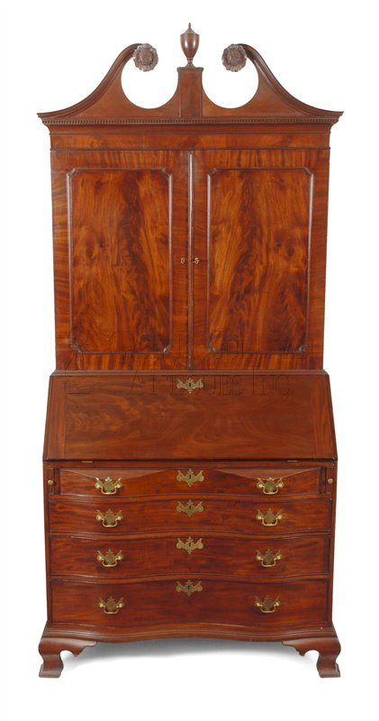Appleton Chippendale desk and bookcase, (Salem, Mass)
