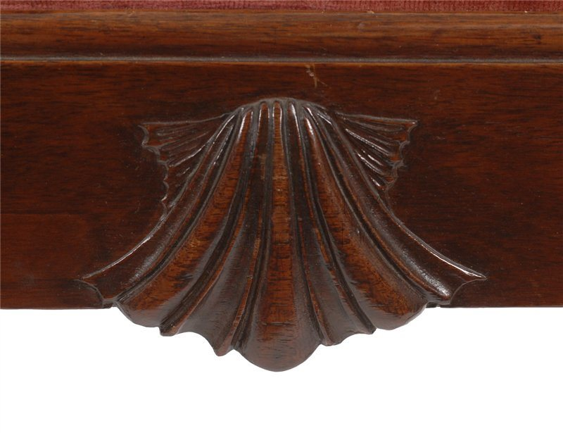 Philadelphia Chippendale armchair shell carving