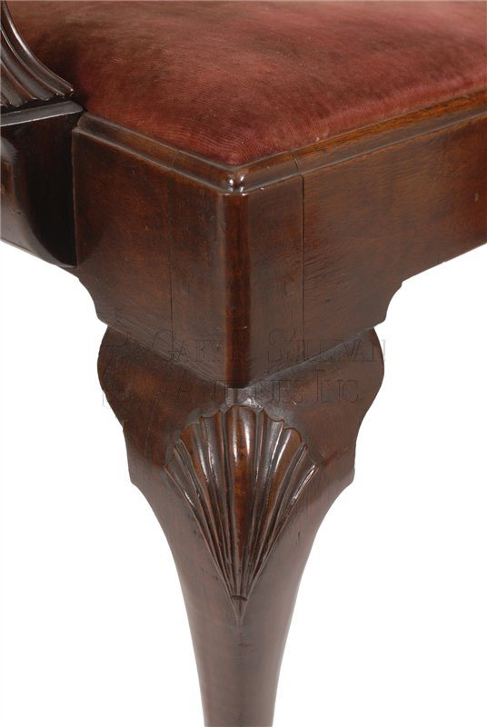 Philadelphia Chippendale armchair carved knee