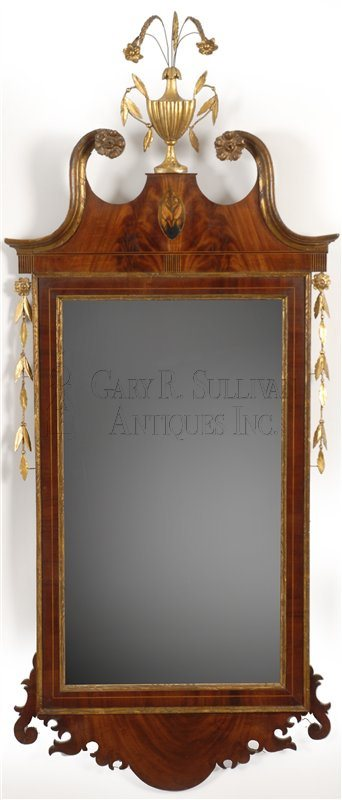Federal gilt and inlaid mirror (New York)
