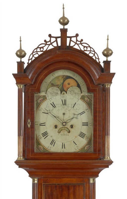 Stephen Taber antique tall clock hhod