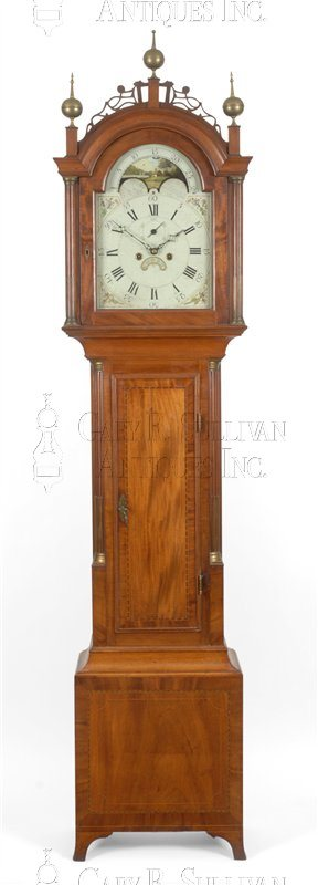 John Bailey Jr. antique tall case clock
