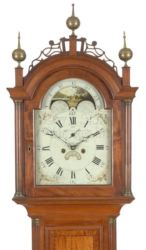 John Bailey Jr. antique tall case clock hood