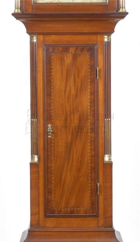 Joshua Wilder antique tall case clock waist