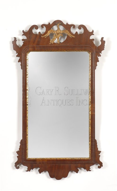 Chippendale gilt carved mirror (American)