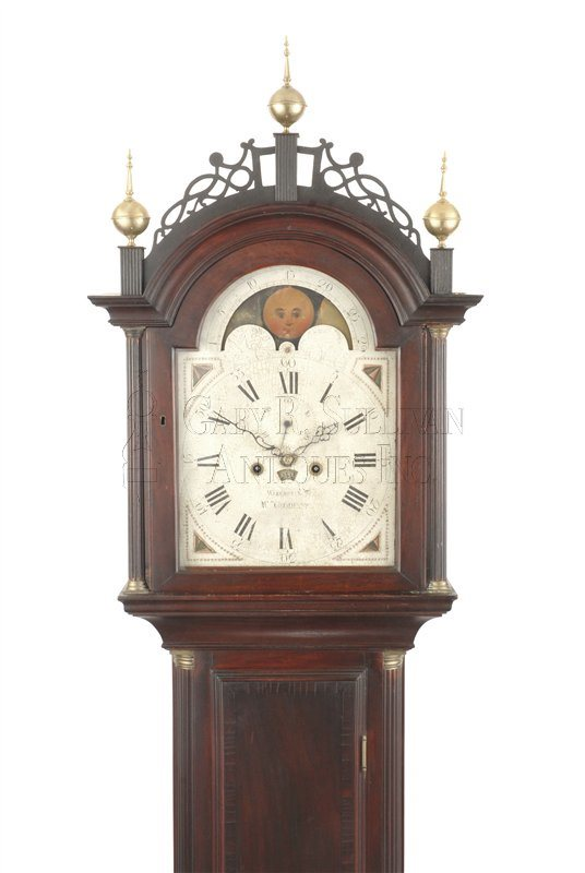 William Cummens Roxbury tall case clock