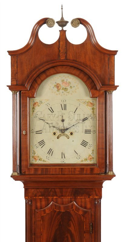 Antique New Jersey tall clock hood