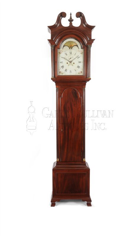 Philadelphia Chippendale tall clock
