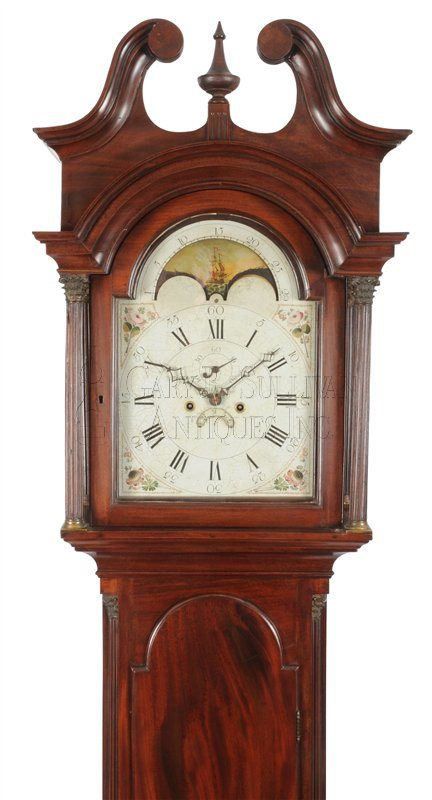 Chippendale tall clock hood