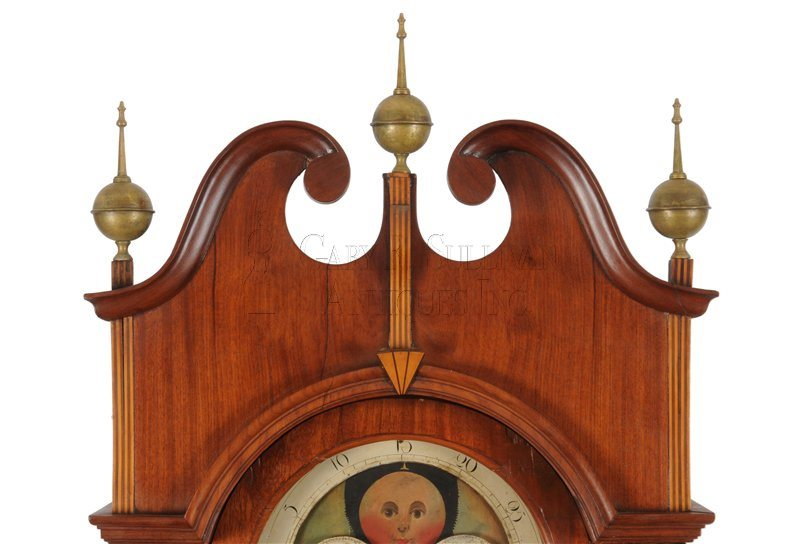 Inlaid New Jersey grandfather clock crest