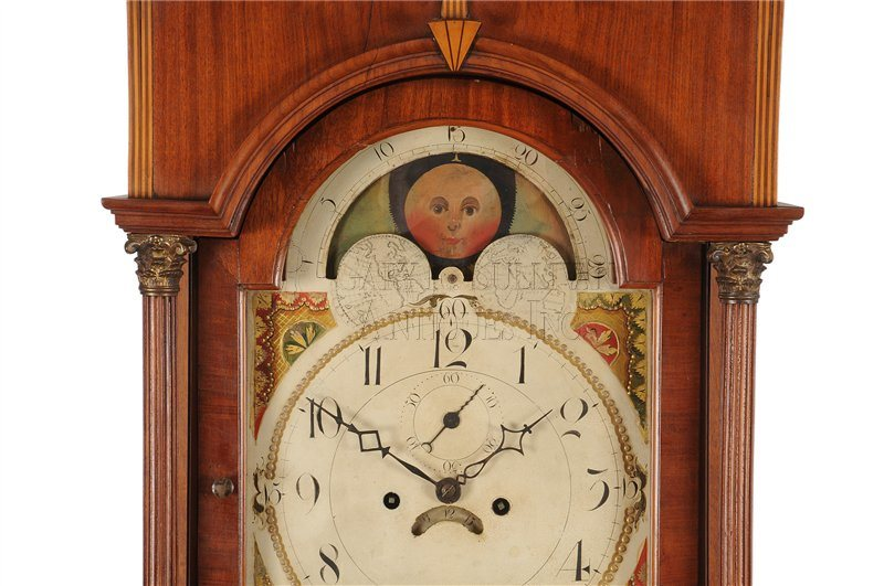 Inlaid New Jersey grandfather clock lunette