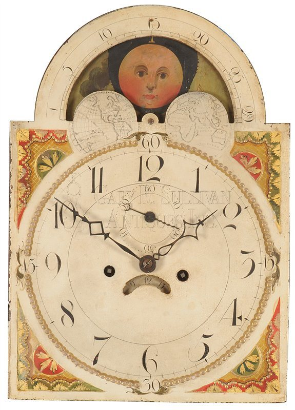 Inlaid New Jersey grandfather clock moon