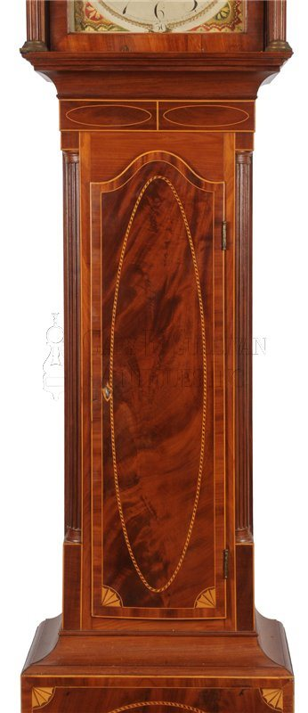 Inlaid New Jersey grandfather clock waist