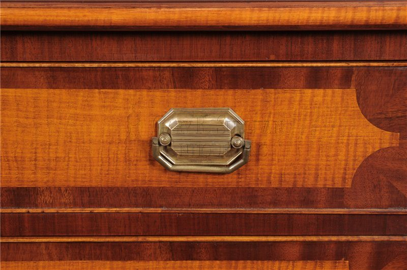 New Hampshire tiger-maple chest detail
