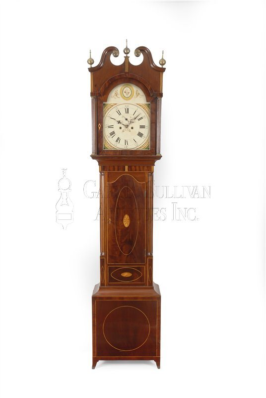 New Jersey inlaid tall clock (NJ )