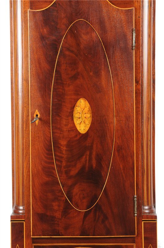 New Jersey antique tall clock door