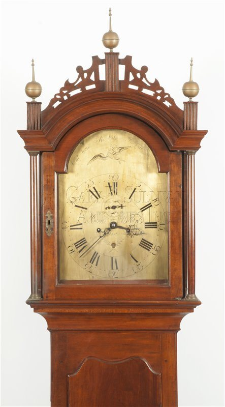 Benjamin Willard grandfather clock hood