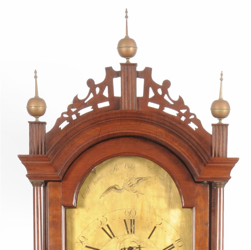 Benjamin Willard grandfather clock crest