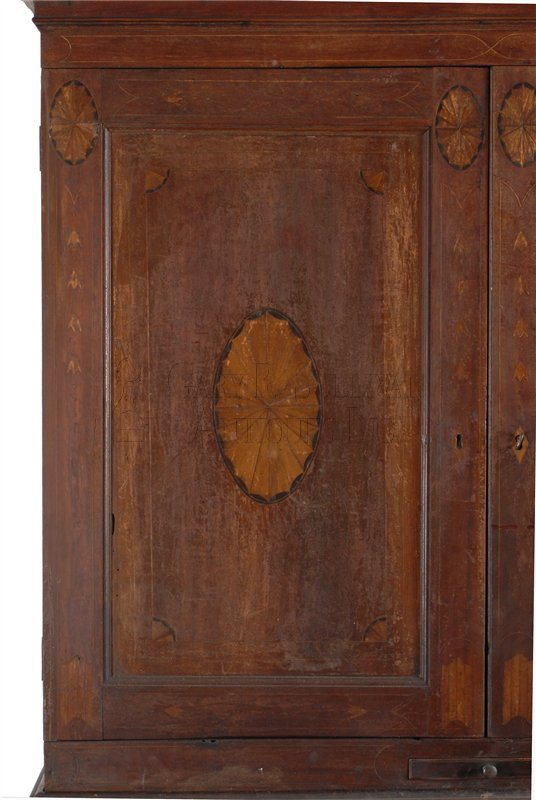 Worcester County desk and bookcase cabinet inlay