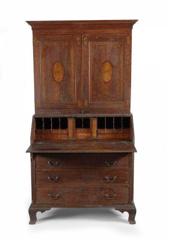 Worcester County desk and bookcase