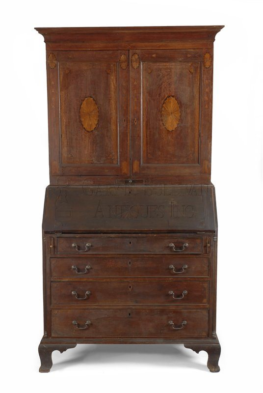 Chippendale desk and bookcase (Sutton, Mass)