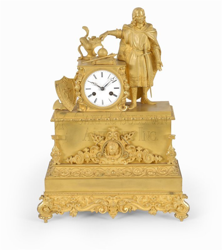 French classical figural shelf clock
