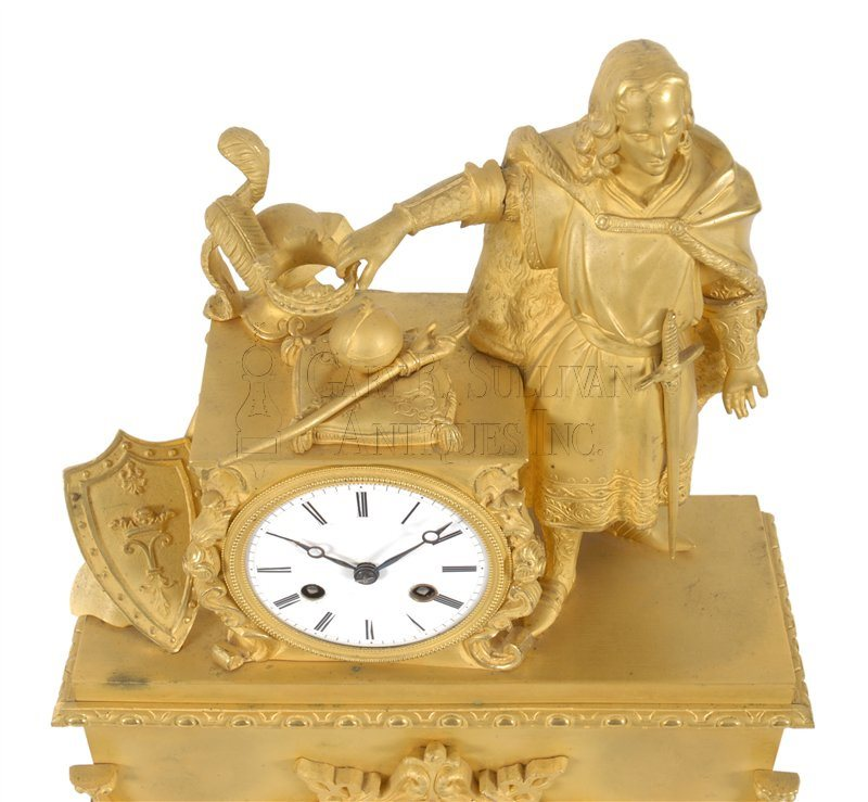 Classical figural clock of Nobleman