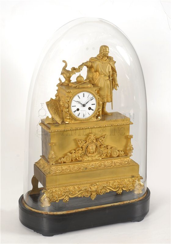 Bronze shelf clock with dome