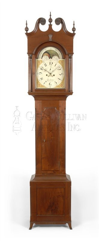 John Fessler antique Baltimore tall case clock