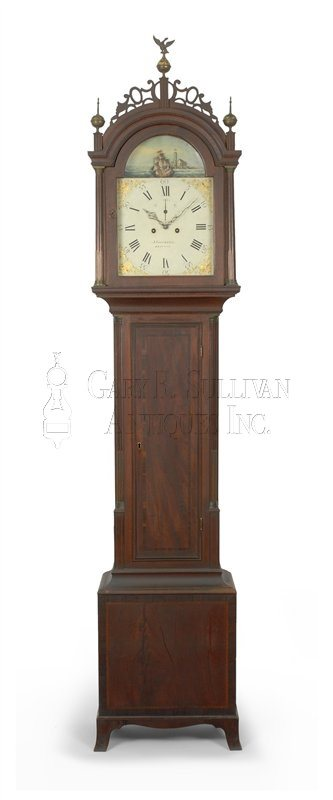 Josiah Gooding antique Rhode Island Federal tall clock